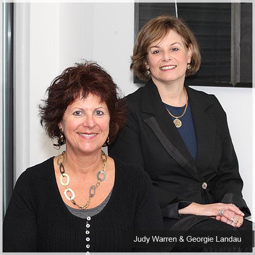 Georgie Landau and Judy Warren